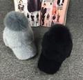 Nueva piel de Mapache/pompón de piel de Zorro de pelo de Conejo mezclado mujeres sombrero de invierno Chicas calientes de la manera gorras de Béisbol casquillo enarbolado