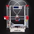 Opcional dupla extrusora de metal cheia de impressora reprap prusa i3 3d DIY Kit de Auto Nivelamento Fácil Montar Gft SDCard Alimentador Livre grátis