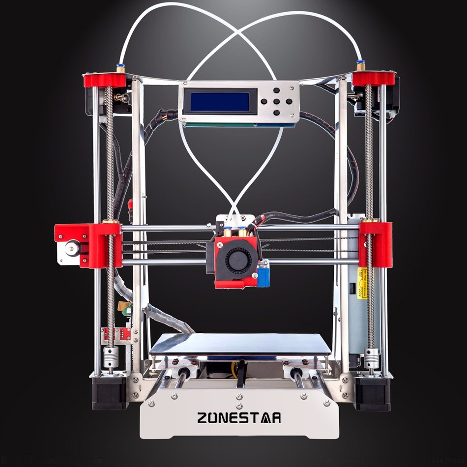 Optional Dual Extruder Mixed Color Full Metal Reprap i3 3D Printer DIY Kit Auto Leveling Easy Assemble Free SD Card Shipping 2017 assembled jennyprinter3 z360ts dual extruder nozzle extended for ultimaker 2 um2 high precision auto leveling 3d printer