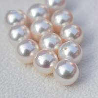 Japanese akoya pearl Bead One Hole Pearl Round Shape Top Quality Fit Europe For DIY Jewelry Making