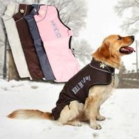 Dog Clothes Winter Warm Clothing Skiing Wear Snowsuit Large Dog Apparel Coat Pet Jacket Free Shipping