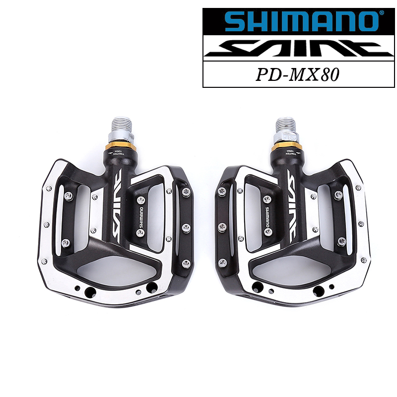SAINT PD-MX80 Flat PEDAL MTB Mountain Bike Cycling Sealed Bearing Aluminum Alloy MX80 Bicycle Mountain DH Downhill shimano saint mx80 flat pedal mtb mountain bike cycling sealed bearing aluminum alloy bicycle all mountain freeride dh downhill