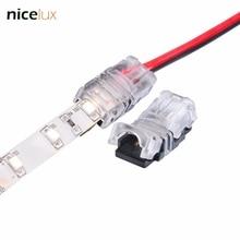 10 шт. 2Pin 3pin 4PIN 5pin Светодиодные ленты Разъем для одного RGB RGBW Цвет 3528 5050 5630 Светодиодные ленты к Провода соединения терминалы