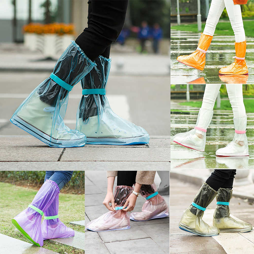 Unisex Taşınabilir Açık Havada Seyahat Anti Kayma yağmur ayakkabıları Kapakları su geçirmez botlar Kapak Spor Anti Kayma Düşük kesim Yağmur moda