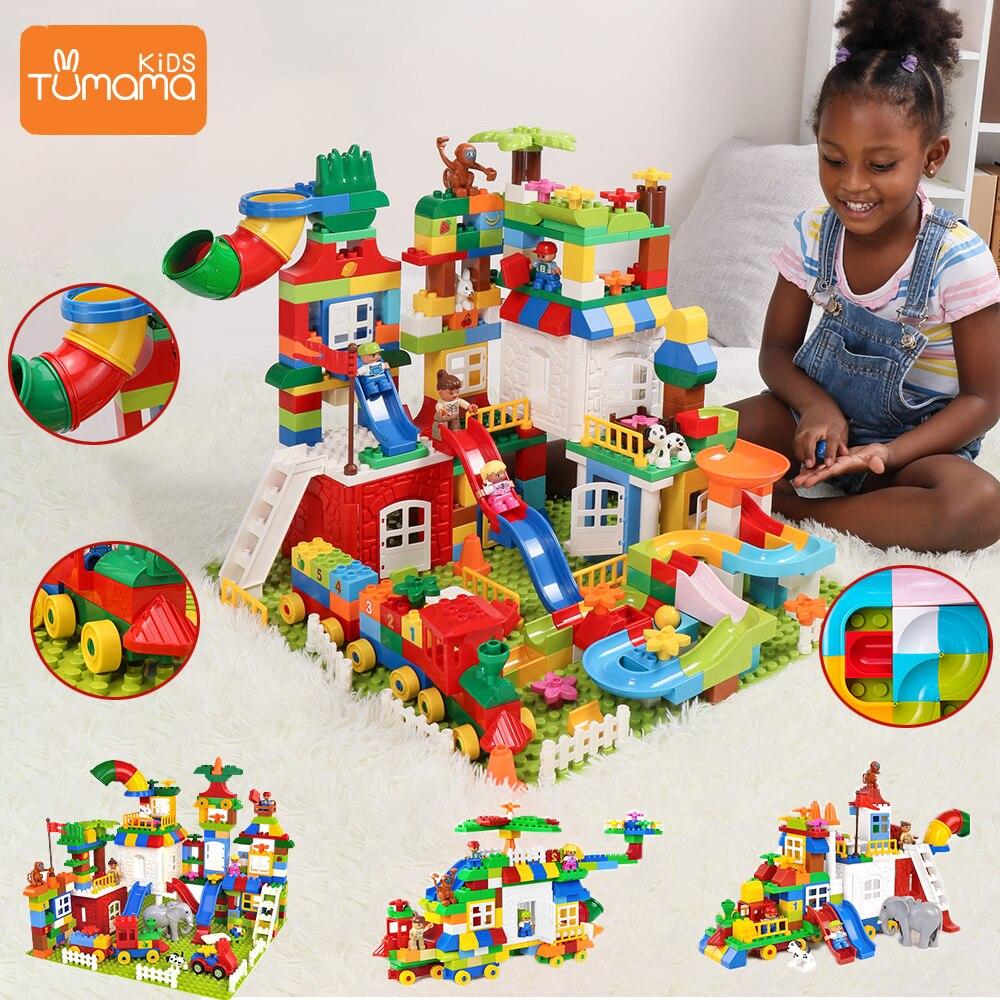 Blocs Tumama plusieurs changements blocs de construction de grande taille blocs de construction compatibles Legoed Duploed Lepin château jouets pour enfants briques