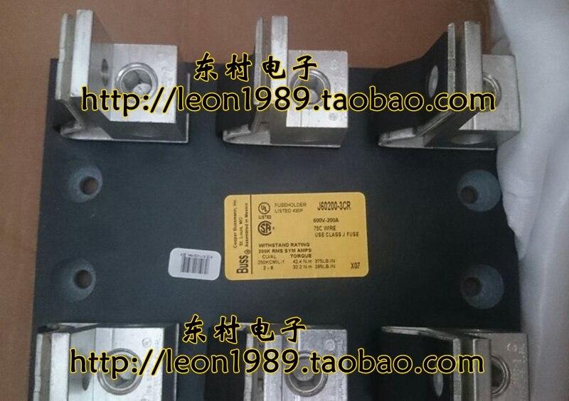 цены [SA]United States BUSSMANN fuse holder J 60200-3CR J 60200-2CR 600V 200A fuse