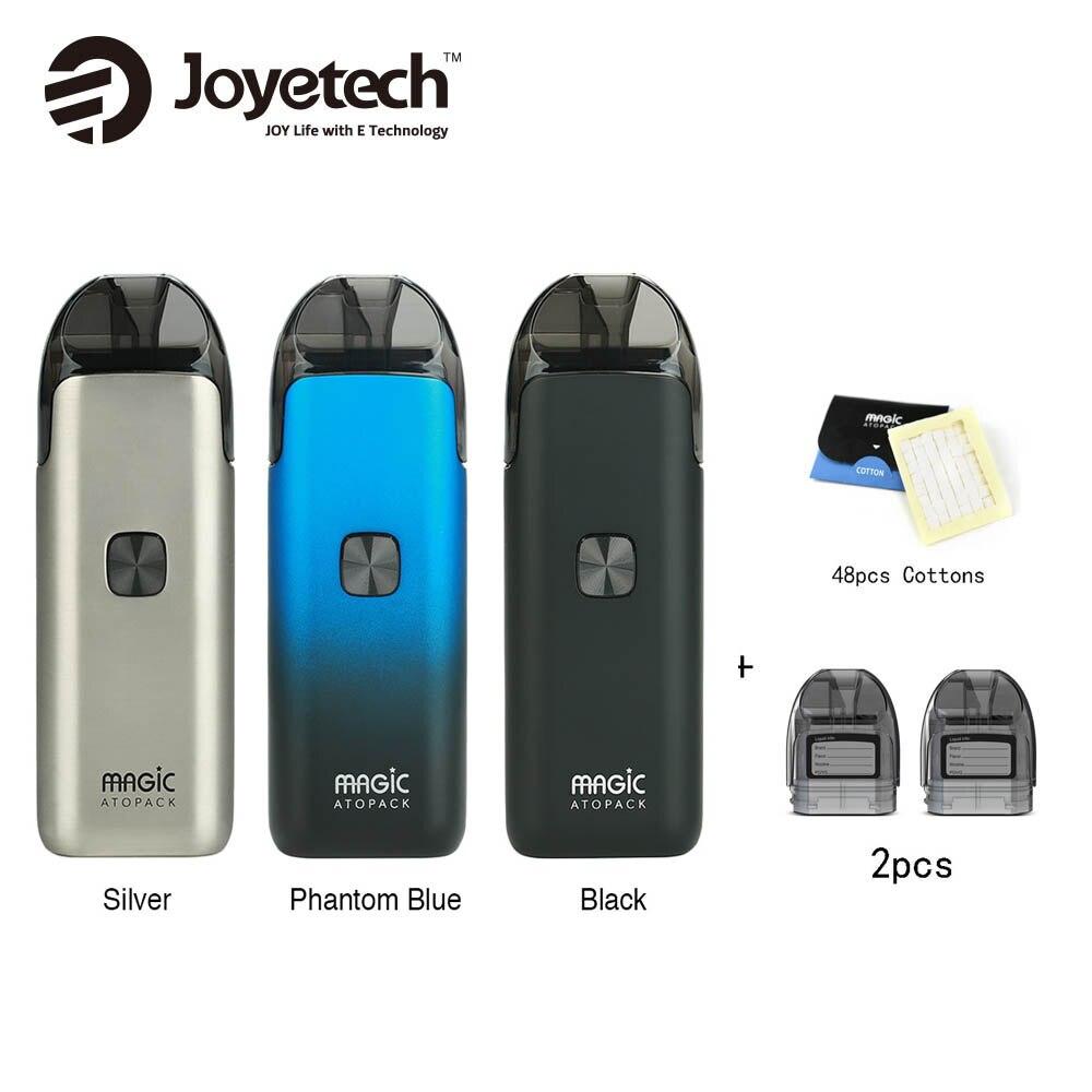 Joyetech Atopack Magie Starter Kit 1300 mAh Eingebaute Batterie & 2 stücke Pod Patrone 7 ml & 100% Organische Baumwolle 48 stücke Vape vs ego AIO