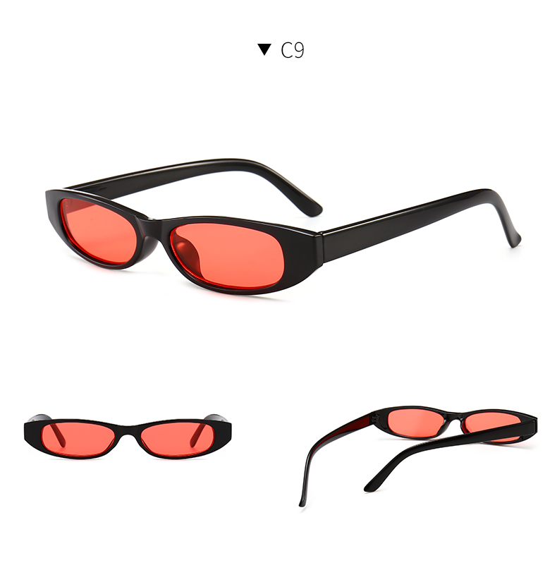 HTB1qJRCdXooBKNjSZPhq6A2CXXab - Vintage Rectangle Sunglasses Women Cat Eye Designer Ladies Small Frame Black Red Sun Glasses Brand Retro Skinny Eyewear