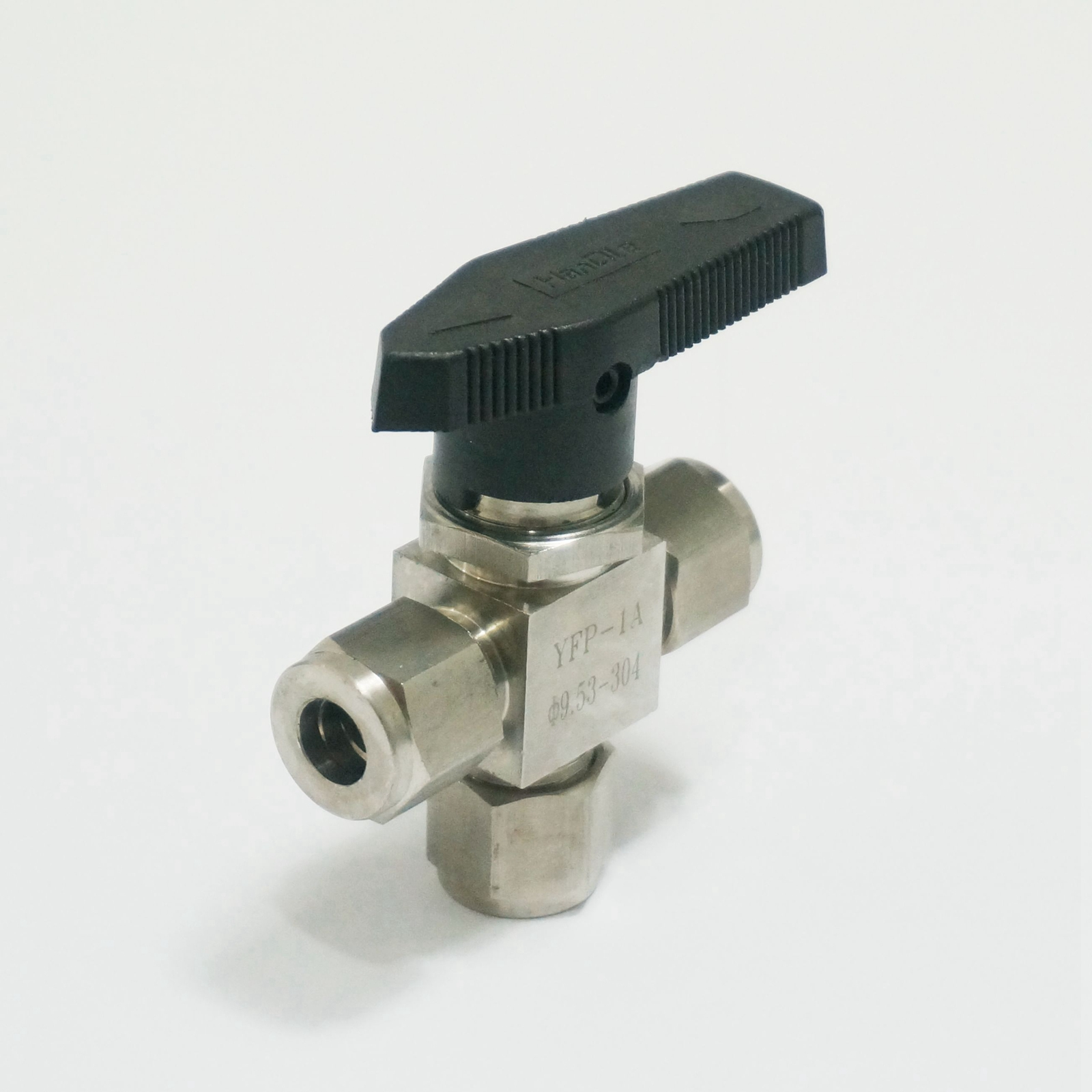 304 Stainless steel Tee 3 Ways Compression fitting shut off Ball Valve 915 PSI PN 6.4 Fit For 3/8 inch O/D Tube 1 2 bsp female 304 stainless steel flow control shut off needle valve 915 psi water gas oil