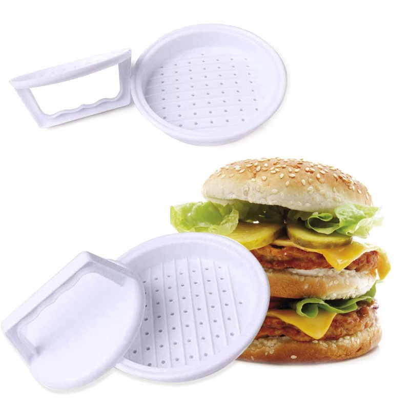 1 pc Hamburger Mold Maker Multi-function Sandwich Meat Kitchen Barbecue Tool DIY Home Cooking Tools White image
