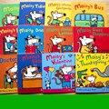 12 книг/набор  мышка для плавания Maisy  волнистая мышь  английская книга с рисунками  детская книга с рисунками  стикер  книга IQ EQ  тренировка