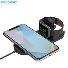 FDGAO Qi Wireless Charger For iPhone XS Max XR X 8 Samsung S9 S8 Note 9 10W USB Fast Charging Pad Apple Watch 4 3 2