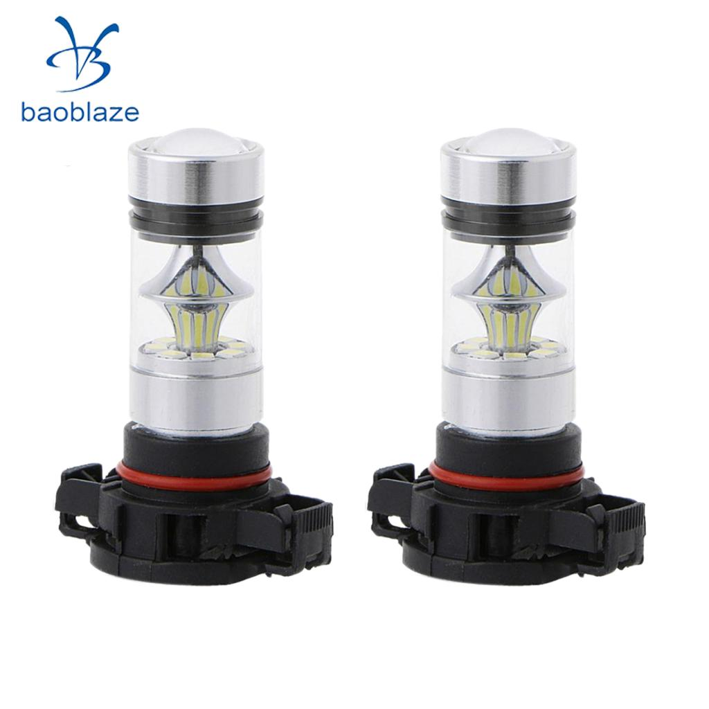2x <font><b>H16</b></font> <font><b>5202</b></font> <font><b>LED</b></font> Projector Foglight 100W 8000K Daytime Running Lamp Ice Blue image