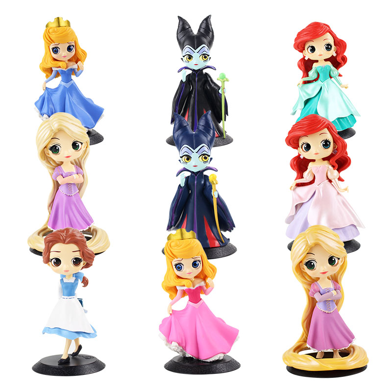 Girls Toys Dolls Belle Collectible Princess Figures Gifts Rapunzel Q-Posket Mermaid Ariel