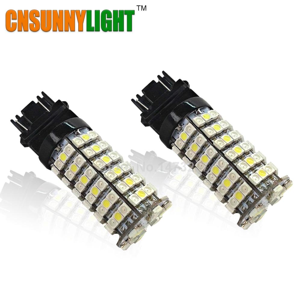 Cnsunny светильник T25 3157 светодиодный 120 SMD 3528 остановить автомобиль светильник сигнала поворота резервный лампы дневные ходовые огни 12V белый/янтарный переключатель светильник Инж
