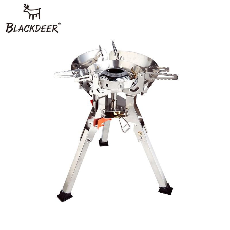 BLACKDEER Ультралегкая титановая газовая плита для кемпинга, пикника, ветрозащитная портативная газовая Складная плита, конфорки, стабильная с лобовым стеклом, на открытом воздухе