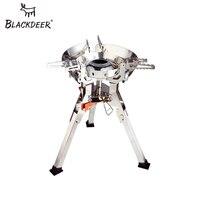 Blackdeer titan ultraleve fogão a gás acampamento piquenique portátil à prova de vento queimadores dobrável estável com brisa ao ar livre