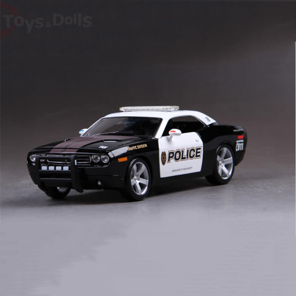 1/18  Dodge Challenger 911 Diecast Model Alloy Car Doors Openable Kids Toys brinquedos Gift Collection maisto jeep wrangler rubicon fire engine 1 18 scale alloy model metal diecast car toys high quality collection kids toys gift