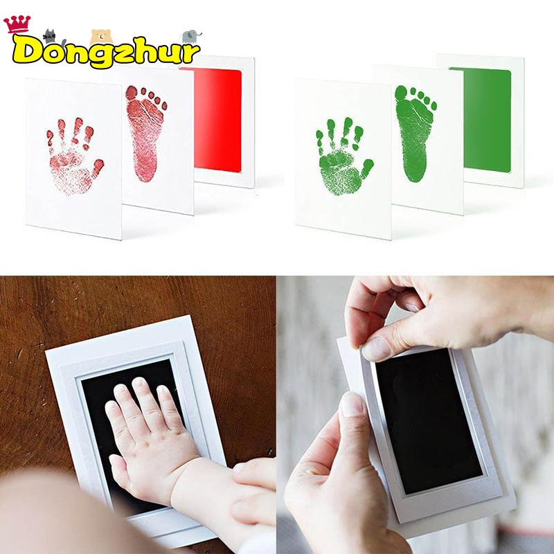 Newborn Baby Handprint Footprint Pad Safe Non-Toxic Clean Ink Pad Photo Easy To Operate Hand Foot Print Pad 0-6 Months