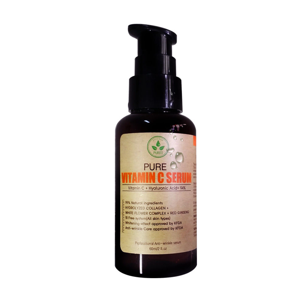 Korea Cosmetic Pure Vitamin C Serum 60ml Anti Wrinkle Anti Aging Whitening Skin  benton fermentation essence 100ml wrinkle improvement korea cosmetic