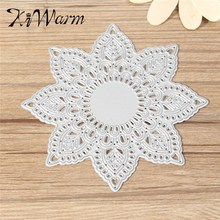 KiWarm Modern Flower Doily Cutting Dies Stencils for DIY Scrapbooking photo album Decorative Embossing DIY Paper Cards Craft(China (Mainland))