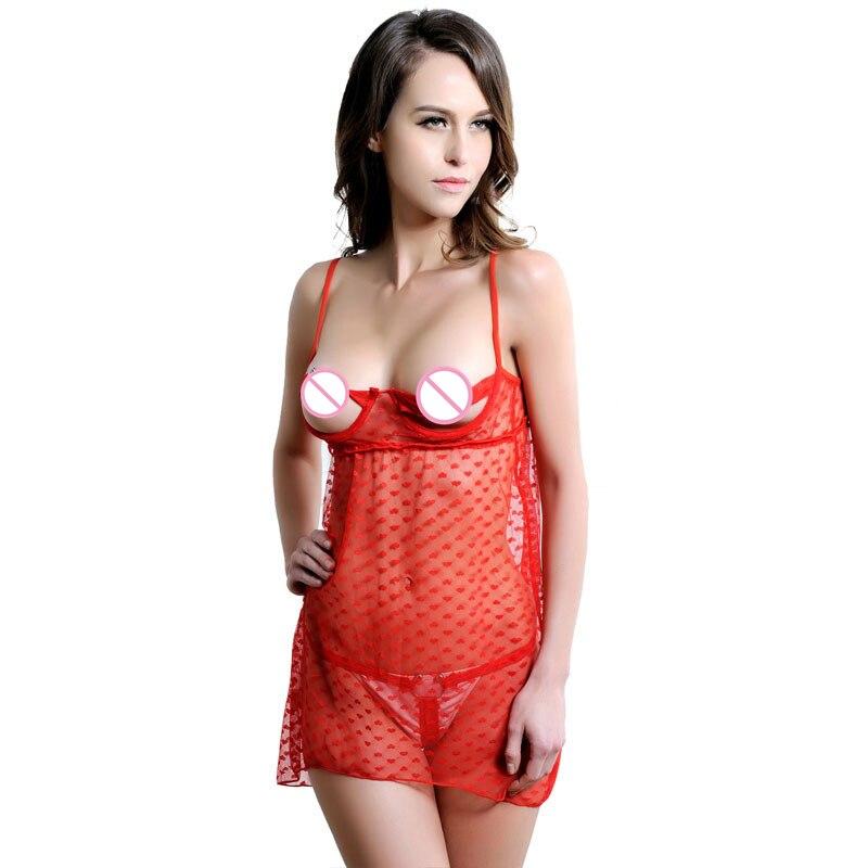 Hot Women Sexy Sleepwear Ladies Sexy Lingerie Sleepdress Babydoll Nightdress Nightgown Sleepshirts Homewear Chemises