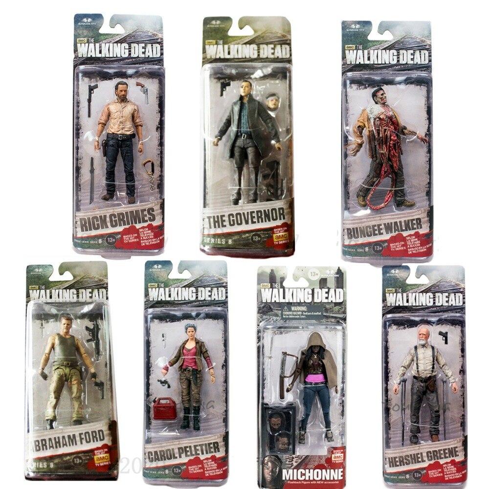 McFarlane The Walking Dead Rick Grimes Carol Peletier Michonne Abraham Ford 5 Figure Free Shipping