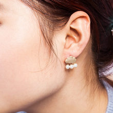 Cloud Stud Earrings Simulated Pearl Gold Silver Plated Earring Dangle Tassel Charm Eardrop Women Accessories Ear Jewelry(China)