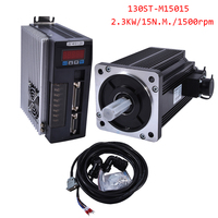 2.3KW AC Servo Motor 15N.M 1500rpm 130ST M15025 AC Motor+Matched Servo Motor Driver+3M Cable Complete Motor kits High Quality