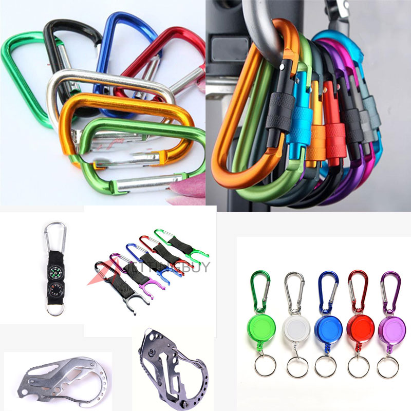 Alloy Safety Carabiner Camping Hiking Hook Climbing Buckles Buckle Keychain