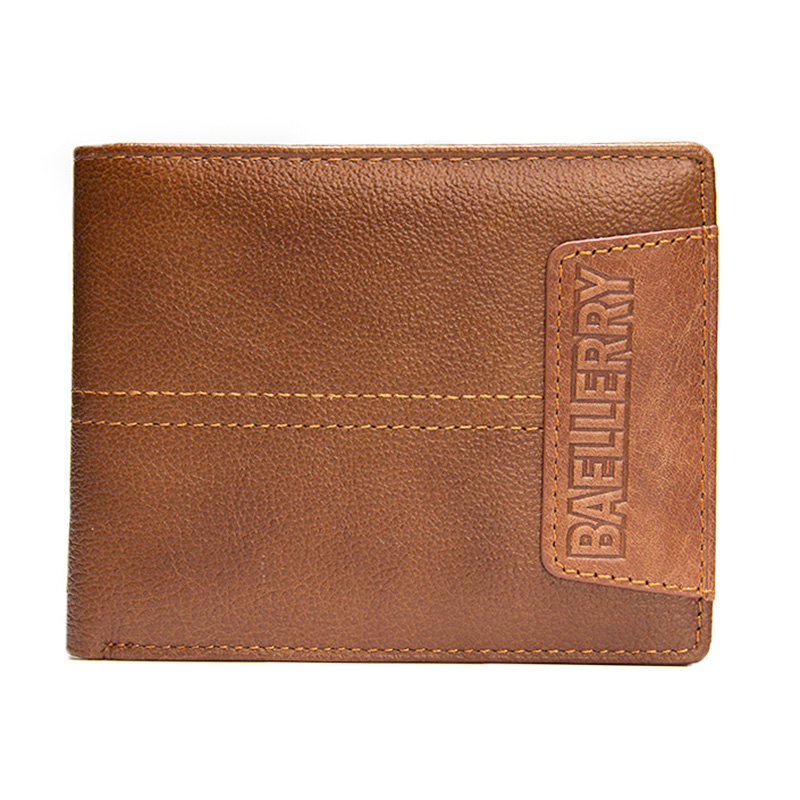 2018 Casual Real Leather Wallet Men's Coin Purse Brown Short Genuine Leather Men Wallets Business Card Holder Male Purse fashion genuine leather men wallets small zipper men wallet male short coin purse high quality brand casual card holder bag
