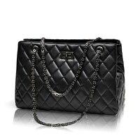 2015 Fashion Woman Bag Promotional Ladies Luxury PU Leather Handbag Chain Shoulder Bag Plaid Women Crossbody