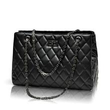 2017 Fashion Woman Big Bags Ladies Luxury Handbag Women Plaid Chain Shoulder Bag Large Quilted Black Bolsas Femininas