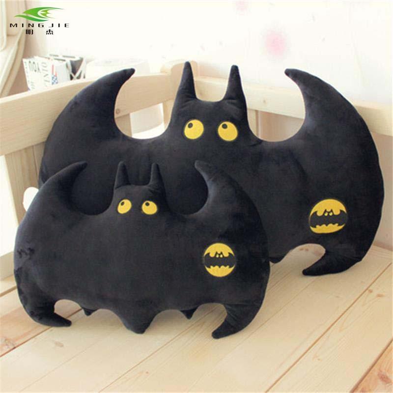 MING JIE NEW Creative Cute Superhero Black Red Cartoon Cushion Batman Neck pillow car Decorative travel Boyfriend New Year Gift