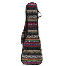 + Nylon De algodón Acolchado Suave Cubierta de la Caja Funda De Guitarra Ukelele Mochila Portátil Con Doble Hombro Para 21 Pulgadas Ukulele