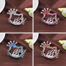 Childrens hair accessories head ornaments girls cute animal crown princess little girl rhinestone hairpin baby comb