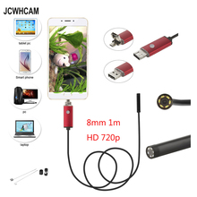 цена на 8mm 2.0MP 2in1 Android USB Endoscope Camera 1M 720P OTG USB Snake Tube Inspection HD720P Borescope Camera 6LED Waterproof