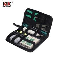 MX DEMEL 11pcs/set Portable LAN Network Repair Tool Kit Cable Tester Plier Crimp Crimper Plug Stripping Crimp Combination Tools