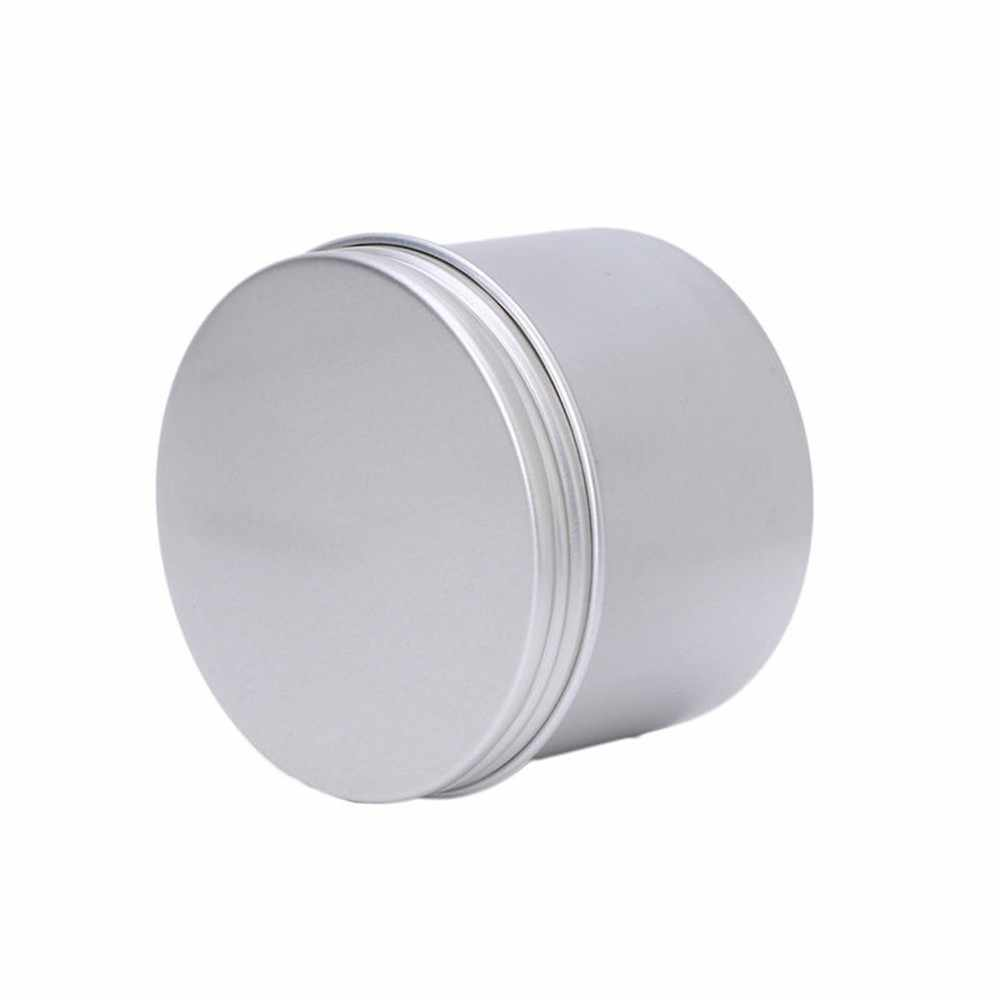 * Three Capacity  Aluminium Empty Cosmetic Pot Jar Tin Container Silver Box Screw Lid Craft for Mini Candy Cosmetic Lip 0.577