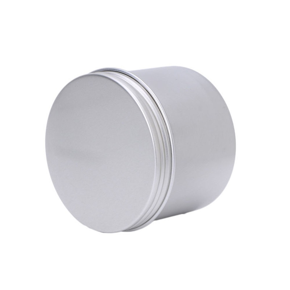 * Three Capacity  Aluminium Empty Cosmetic Pot Jar Tin Container Silver Box Screw Lid Craft for Mini Candy Cosmetic Lip 0.577 lid