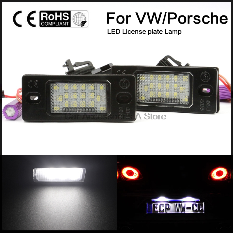 2x Led Number License Plate Lamp Light For Porsche Cayenne FOR VW Touareg