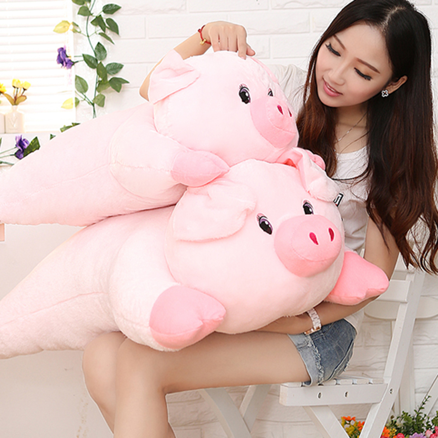 Kawaii Pig Plush Toys For Children Doll Pink Brinquedos Kawaii Stuff Pillow Funny Pluche Piggy Stuffed Animal Toy 70C0587 children s pillow toys fat hamster doll plush guinea pig toy super cute good quality genuine