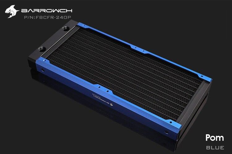 Barrowch FBCFR-240, хамелеон рыбы модульные 240 мм радиаторы, акрил/Пом съемные радиаторы, подходит для 120 мм вентиляторов - Цвет лезвия: POM-Blue
