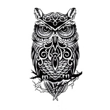 1pc Hot Temporary tattoos large black owl arm fake transfer tattoo stickers hot sexy men women spray waterproof designs
