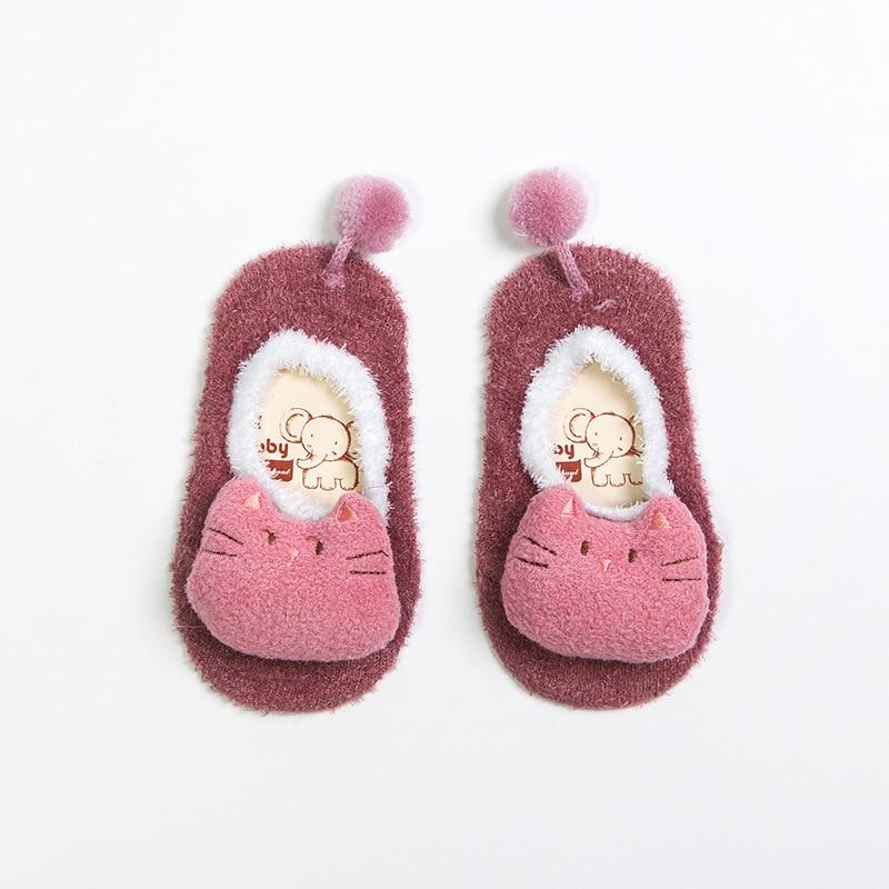 Winter-Baby-Boy-Girl-Children-Socks-Anti-Slip-Newborn-Animal-Cartoon-Shoes-Slippers-Boots-Soft-Warm-Coral-Fleece-Indoor-Socks-5