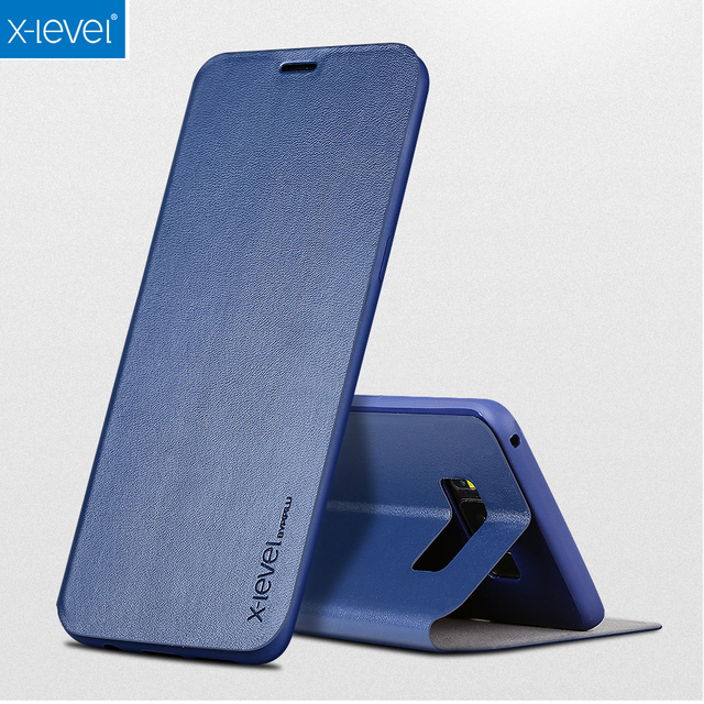 X-level For Samsung Galaxy S8/ S8 Plus Case Ultra Thin Leather Soft TPU Flip Cover Case For Samsung Galaxy S8 Plus Fundas Coque