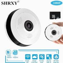 SHRXY 360 Degree Panoramic Wide Angle MINI Cctv Camera 1080P HD Wireless Smart IP Camera Fisheye Home Security V380 Wifi Camera