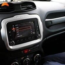 Для Jeep Renegade 2014 2015 2016 автомобилей Стайлинг центральной консоли Управление навигации декоративная рамка ABS отделки авто аксессуары