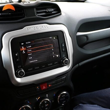 For Jeep Renegade 2014 2015 2016 Car Styling Center Console Control Navigation Decorative Cover Frame ABS Trim Auto Accessories