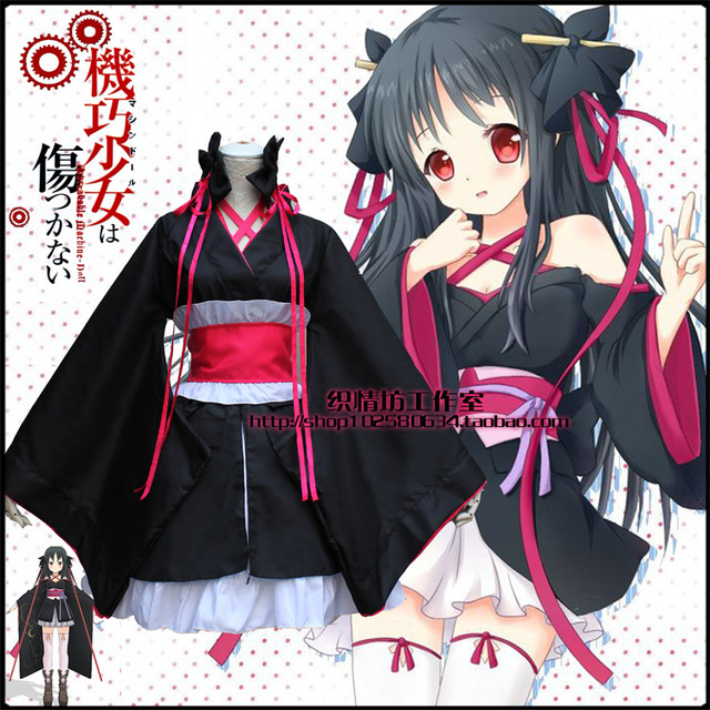 M L Anime Girl Cosplay Lolita Dress Kikou Shoujo Wa Kizutsuka Nai